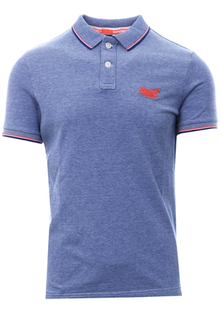 Superdry Cobalt Classic Poolside Pique Polo Shirt  - Click to view a larger image