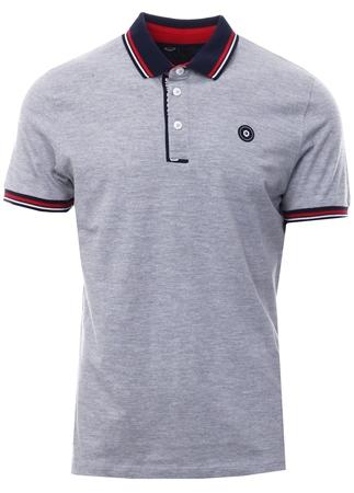 Jack & Jones Grey Urban Polo Shirt Polo Shirt  - Click to view a larger image