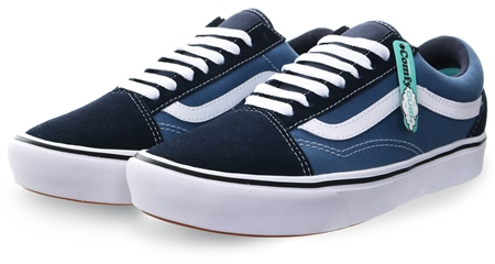 Vans Navy Comfy Cush Old Skool Shoes  - Click to view a larger image