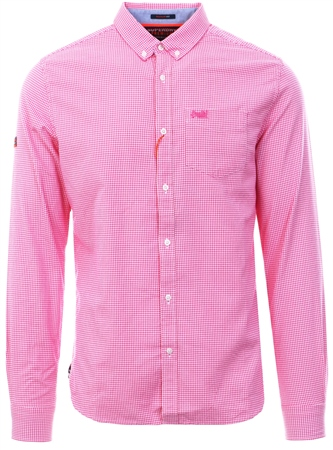 Superdry Gingham Pink Ultimate University Oxford Shirt  - Click to view a larger image