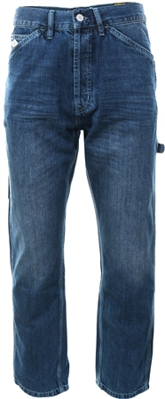 Superdry Union Mid Blue Earl Worker Jeans  - Click to view a larger image