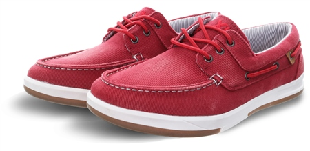 Xti Bright Red Boat Panel Lace Up Detail Shoe  - Click to view a larger image