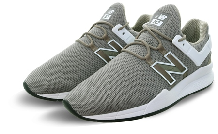 New Balance Khaki With White 247 Lace Up Trainer  - Click to view a larger image