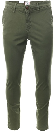Jack & Jones Olive Marco Bowie Slim Fit Chinos  - Click to view a larger image