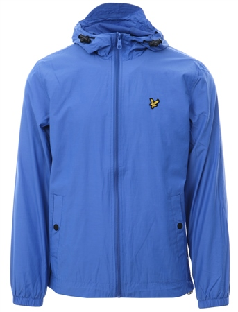 Lyle & Scott Blue Zip Through Hooded Jacket  - Click to view a larger image