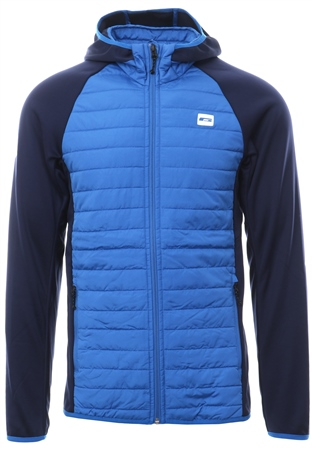 Jack & Jones Atomic Blue Quilted Zip Up Jacket  - Click to view a larger image