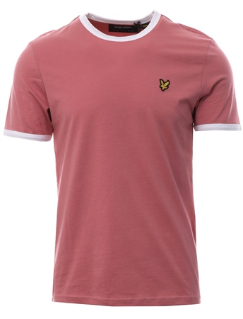 Lyle & Scott Pink Shadow Plaint Short Sleeve T-Shirt  - Click to view a larger image