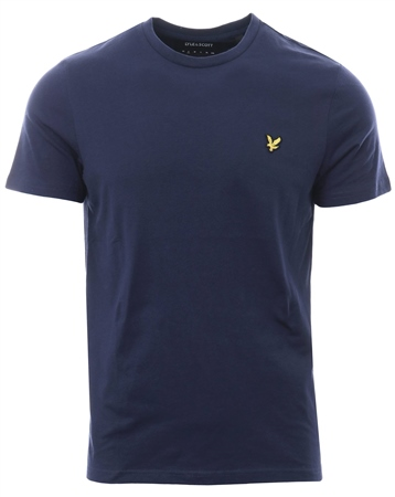 Lyle & Scott Navy Marl Crew Short Sleeve T-Shirt  - Click to view a larger image