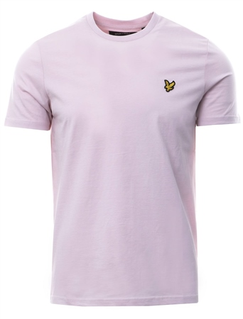 Lyle & Scott Dusty Lilac Plain Short Sleeve Crew T-Shirt  - Click to view a larger image