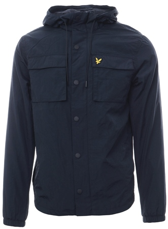 Lyle & Scott Dark Navy Pocket Button Down Jacket  - Click to view a larger image