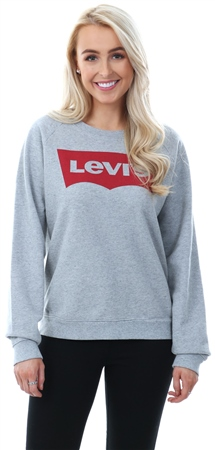 Levi's Grey Relaxed Graphic Crewneck Sweatshirt  - Click to view a larger image