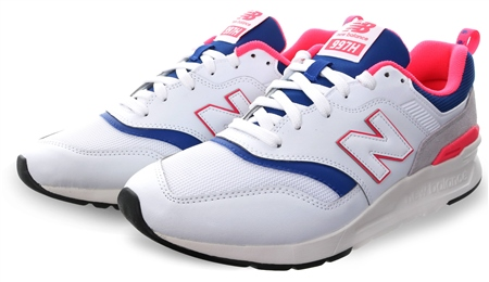 New Balance White 997h 90 Style Lace Up Trainer  - Click to view a larger image