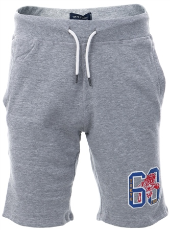 Tokyo Laundry Light Grey Portland Bay Jogger Shorts  - Click to view a larger image