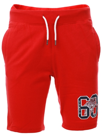 Tokyo Laundry Red Portland Bay Jogger Shorts  - Click to view a larger image