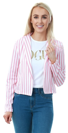 Only Cloud Dancer / Global Stripe Classic Blazer  - Click to view a larger image