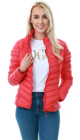 Only Red / Mars Red Short Quilted Jacket  - Click to view a larger image