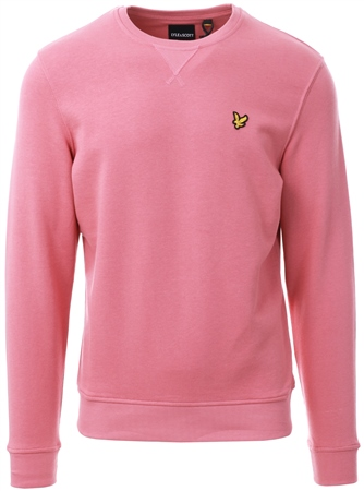 Lyle & Scott Pink Shadow Crew Neck Sweatshirt  - Click to view a larger image