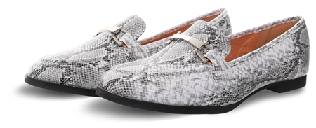 No Doubt Grey/White Snake Print Slip On Shoe  - Click to view a larger image
