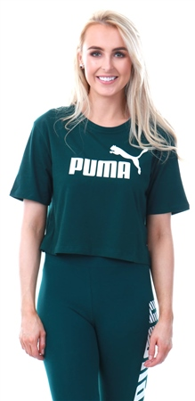 Puma Pine Essentials+ Cropped Women's Tee  - Click to view a larger image
