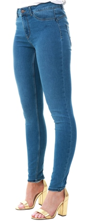 Pieces Blue Denim Shape Up Skinny Jeans  - Click to view a larger image