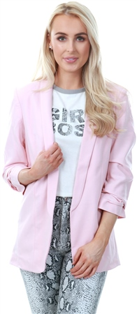 Pieces Peachskin 3/4 Length Sleeves Blazer  - Click to view a larger image