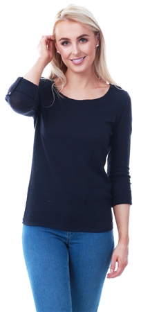 Only Night Sky Loose 3/4 Sleeve Crew Top  - Click to view a larger image