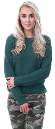 Vila Khaki / Garden Solid Knitted Pullover  - Click to view a larger image