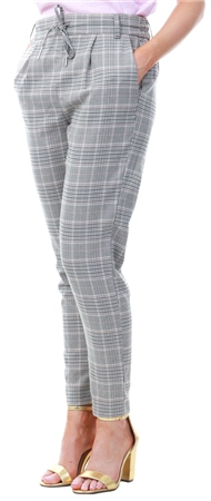 Only Light Grey Checked Trouser  - Click to view a larger image