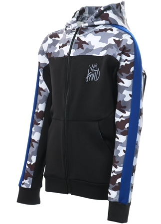 Kings Will Dream Black Junior Mert Camo Hooded Top  - Click to view a larger image