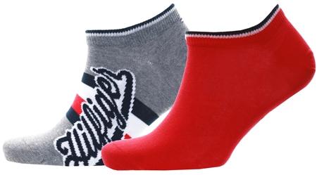 Hilfiger Denim Grey 2-Pack Trainer Socks  - Click to view a larger image