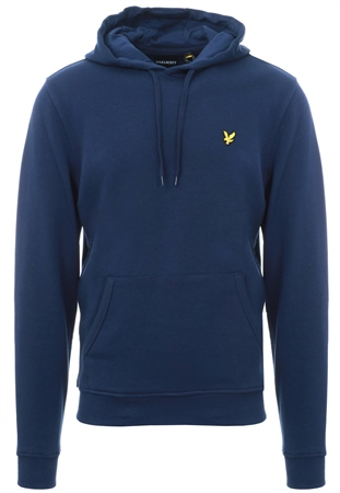 Lyle & Scott Navy Pull Over Logo Hoodie  - Click to view a larger image