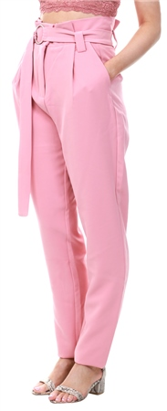Vila Pink / Apricot Classic Highwaist Pants  - Click to view a larger image