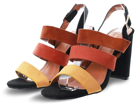 No Doubt Camel Panel Colour Block Heel  - Click to view a larger image