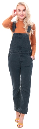 Momokrom Black Dark Denim Dungarees  - Click to view a larger image
