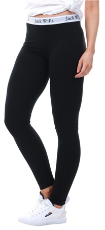 Jack Wills Black Redbrook Classic Leggings  - Click to view a larger image