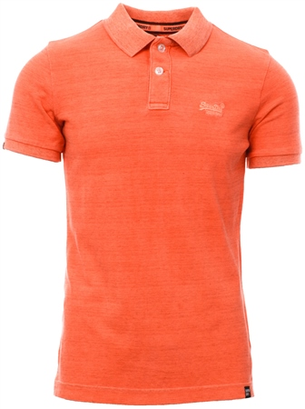 Superdry Orange Vintage Destroyed Polo Shirt  - Click to view a larger image