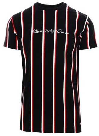 e0a06c9f2b3ebd Kings Will Dream Black   Red   White Moffat Striped T-Shirt - Click to