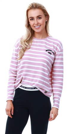 Superdry Artizan Pink Stripe Penry Super Soft Top  - Click to view a larger image