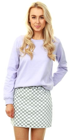 Brave Soul Lilac Crew Neck Long Sleeve Sweater  - Click to view a larger image