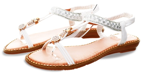 Zanni White Embellished Sandal  - Click to view a larger image