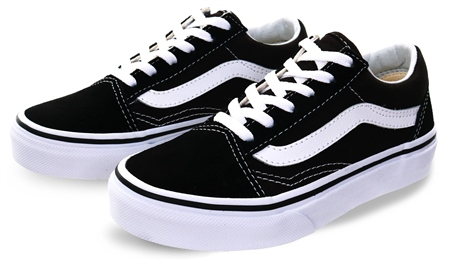 Vans Black Kids Old Skool Shoes  - Click to view a larger image