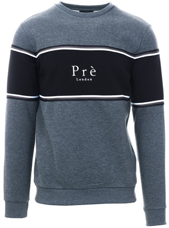 Pre London Charcoal /Black Collage Sweat  - Click to view a larger image