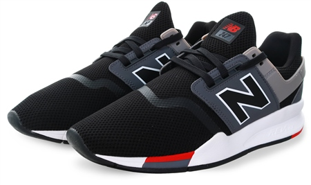 New Balance Black 247 Mesh Lace Up Trainer  - Click to view a larger image