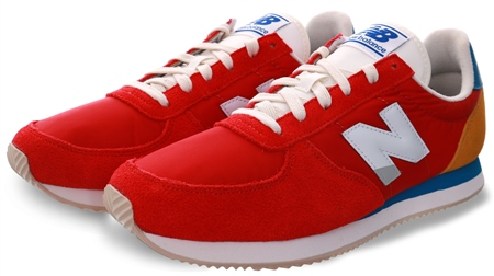 New Balance Red 220 Lace Up Trainer  - Click to view a larger image