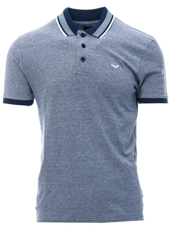 Threadbare Navy Fitzroy Short Sleeve Polo  - Click to view a larger image