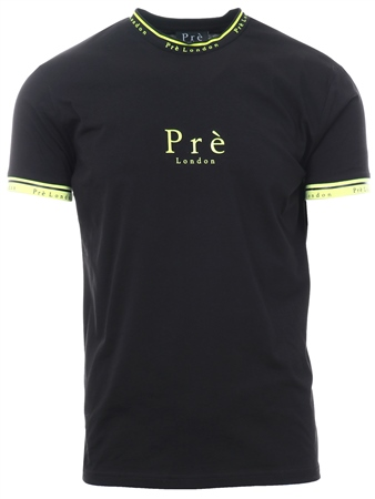 Pre London Black / Neon Power Short Sleeve T-Shirt  - Click to view a larger image