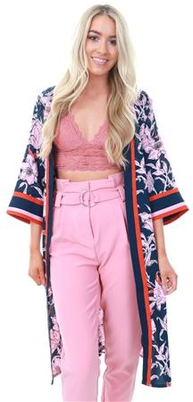 Jdy Sky Captain Adira Floral Print Kimono  - Click to view a larger image