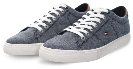 Tommy Jeans Midnight Sustainable Cotton Trainers  - Click to view a larger image