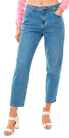 Noisy May Blue Denim Liv Nw Straight Fit Jeans  - Click to view a larger image