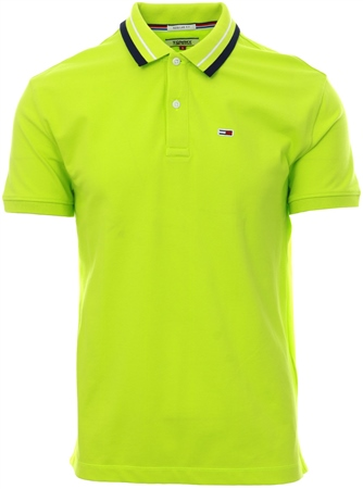 Hilfiger Denim Acid Lime Stretch Cotton Classic Polo  - Click to view a larger image